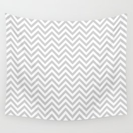 Grey Chevron Wall Tapestry