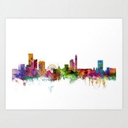 Birmingham England Skyline Cityscape Art Print