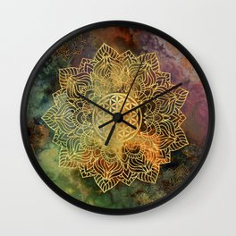 Flower Of Life Batik Wall Clock