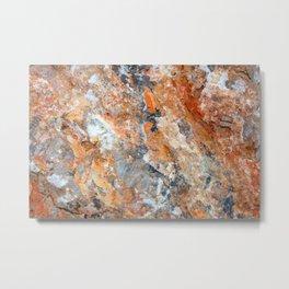 Rusty Rock Textures 47 Metal Print