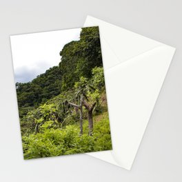 Dragon Fruit Fields Growing on the Side of a Hill in the Rainforest of Nicaragua Stationery Cards