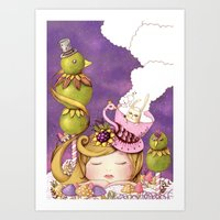 neverland Art Prints featuring Neverland by Eunice Ng