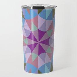 Lavender Retro Geometry Travel Mug