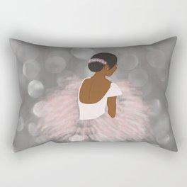 African American Ballerina Dancer Rectangular Pillow