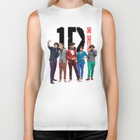one direction Biker Tanks featuring One Direction by Marianna