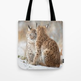 Lynx Love Tote Bag
