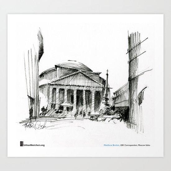 "Matthew Brehm, ""Roma Pantheon"" Art Print"