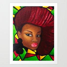 Grounded - Afro Natural Hair Art Art Print