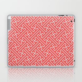 Lattice - Coral Laptop & iPad Skin