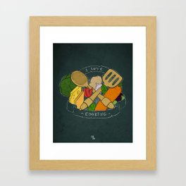 I love cooking Framed Art Print