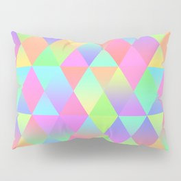 Colorful Geometric Pattern Prism Holographic Foil Triangle Texture Pillow Sham