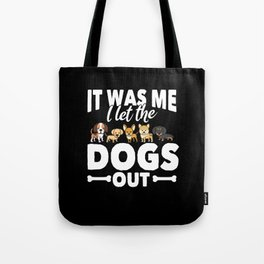 Funny Dog And Pooch Gift Tote Bag