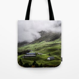 Luscious green mountain views in Switzerland Tote Bag
