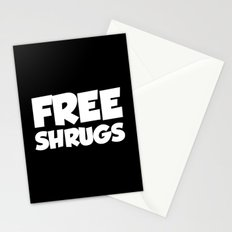 Free Shrugs Funny Quote Stationery Cards