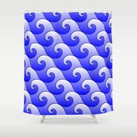 surf Shower Curtains featuring Surf by Harvey Warwick