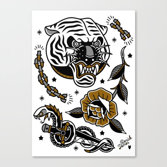 tattoo set Canvas Print