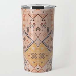 N218 - Mustard Yellow Oriental Heritage Boho Traditional Moroccan Desert Style Travel Mug