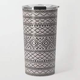 N108 - HQ Anthropologie Traditional Oriental Moroccan Texture Style Design. Travel Mug
