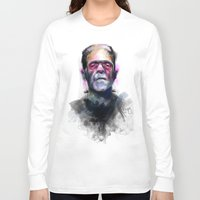frank Long Sleeve T-shirts featuring Frank by Saje Gary
