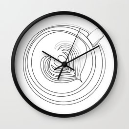 """"""" Kitchen Collection """" - Cappuccino Hearts Design Wall Clock"""