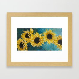 Sunning Flowers Framed Art Print