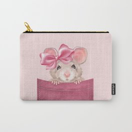 Mouse in pocket. Pink version Carry-All Pouch