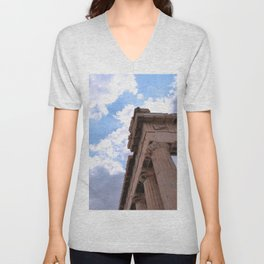 Sky above Parthenon Unisex V-Neck