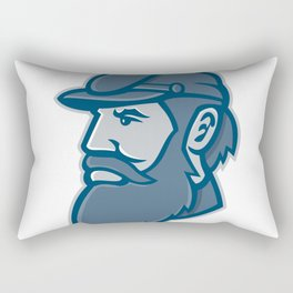 General Stonewall Jackson Mascot Rectangular Pillow