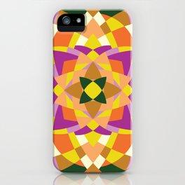 Geo quilt iPhone Case