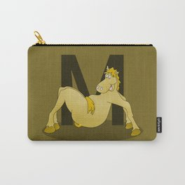 Pony Monogram Letter m Carry-All Pouch