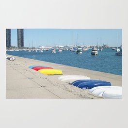 Chicago, Chicago shoreline, Skyline, Lake Michigan Rug