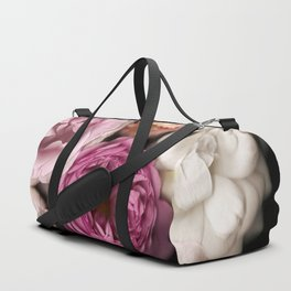 Pink, Purple, and White Roses Duffle Bag