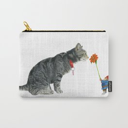 Cairo and Gnome with Sunflower Carry-All Pouch