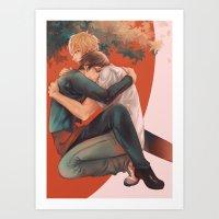 yaoi Art Prints featuring Raira Days by washuuchan