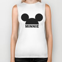minnie Biker Tanks featuring MINNIE by ilola