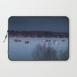 Ice Fishing on Fish Hook Lake Laptop Sleeve