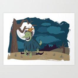 Nameless Monster Art Print
