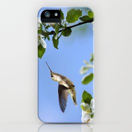 Spring Hummingbird iPhone Case