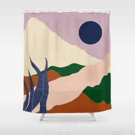 Intangible Land II | Gouache Shower Curtain