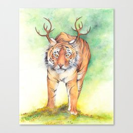 What If...?? Tigers Had Antlers! Canvas Print