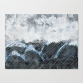 Stormy Mountains Canvas Print