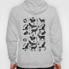 Folk Art Forest Animals Hoody