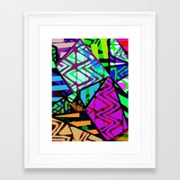 honeycomb Framed Art Prints featuring Honeycomb by Sarah Bagshaw