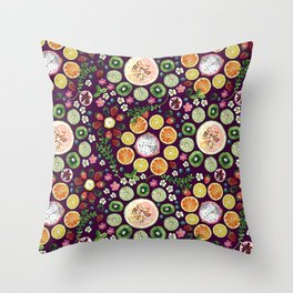 Fruit fun Throw Pillow