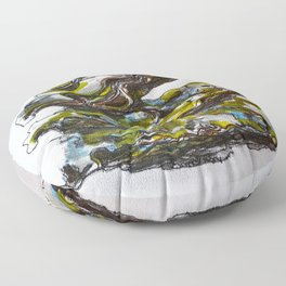 Three oysters Floor Pillow