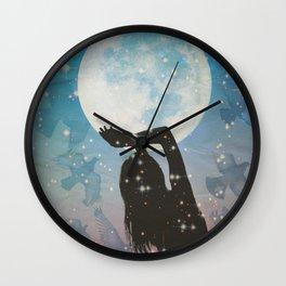 Birds and Moonlight Wall Clock