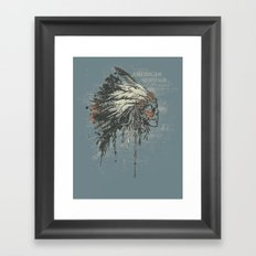 American Heritage (Dark) Framed Art Print
