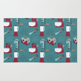 Retro Kitchen - Teal and Raspberry Rug