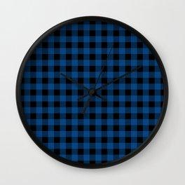 Plaid (blue/black) Wall Clock