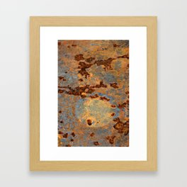 Rusted Reefs Framed Art Print